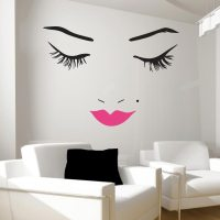 Beautiful Face Wall Decal | Lips Wall Decals | Wall Decal ...