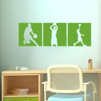 Basketball Vinyl Wall Decals | Basketball Decals for Bedroom