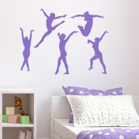 Gymnast Wall Decal - Set of 5 | Wall Decal World