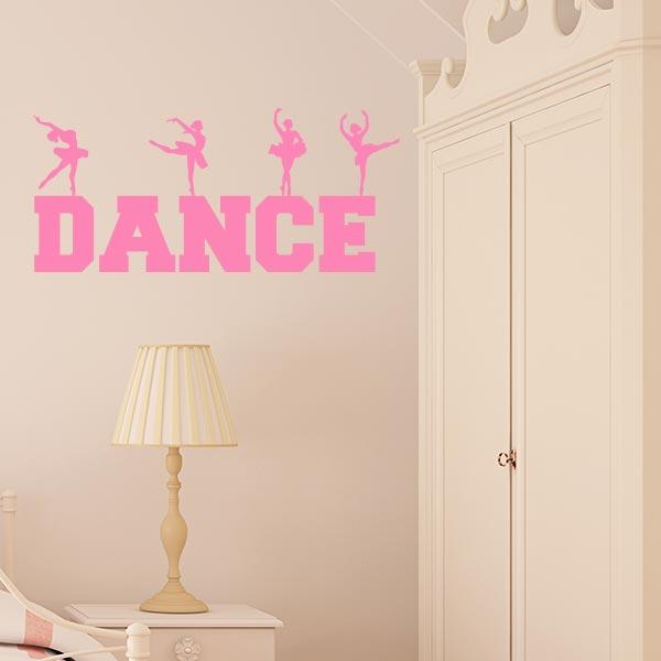 Dance Word Art Wall Decal  Wall Decal World
