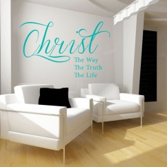 Wall Stickers Living Room Small Ideas With Tv In Corner Decals Large For Christ Quote Decal