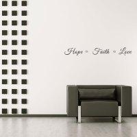 Hope Faith Love Wall Decal   Wall Decal World