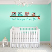 Turquoise and Coral Owl Always Love You Wall Decal | Wall ...