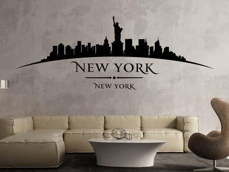 """Offerta wall stickers adesivo in vinile """"skyline new york"""" per portare la grande mela direttamente a casa tua. Adesivi Murali Citta E Nazione"""