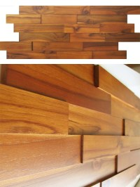 Wood Wall Paneling - Teak Real Wood Panels for Interior Walls