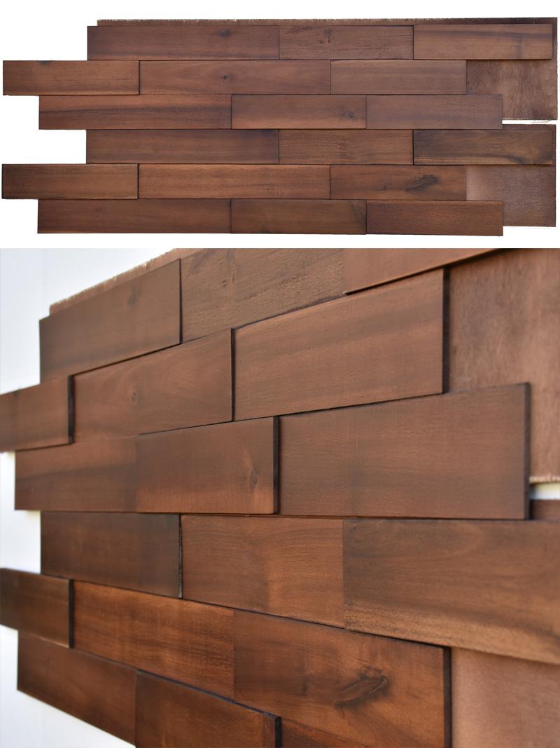 Acacia Wood Paneling Mosaic Interior 3d Mosaic Wood Wall Paneling
