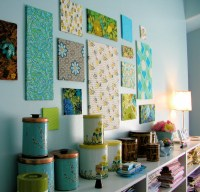 Fabric wall decoration for kitchen - Wall Decoration ...