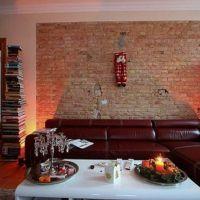 Modern living room brick wall decoration