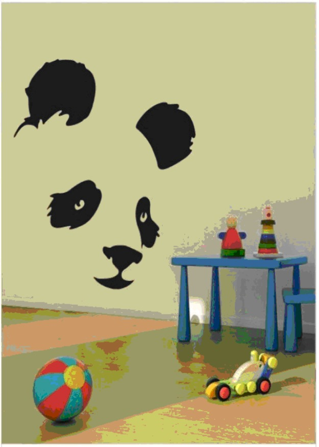 Panda wall art for kids room  Wall Decoration Pictures