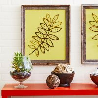 Embroidered Canvas Wall Decoration