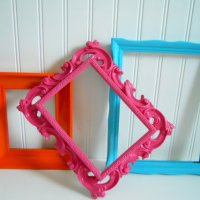 Painted Frame Collage wall decoration