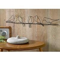 Birds on a Metal Wire Wall Art