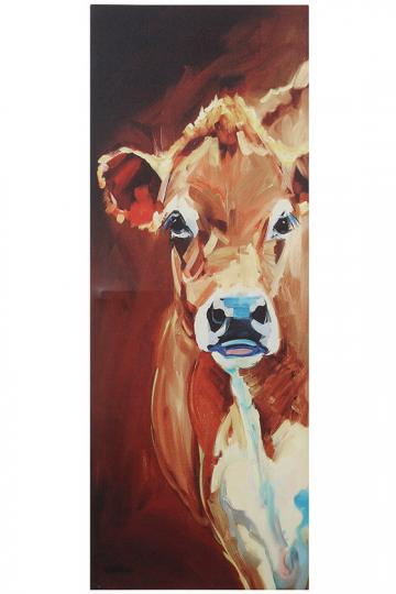 One Cow Tall Canvas Wall Art  Wall Decoration Pictures Wall Decoration Pictures