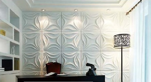 3D Lily Wall Panels 3D Textured Wall Panel Design