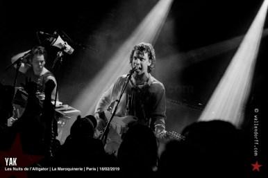Yak @ les Nuits de l'Alligator, la Maroquinerie, Paris, 18/02/2019