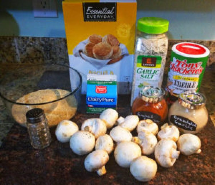 ingredients for the best fried mushrooms