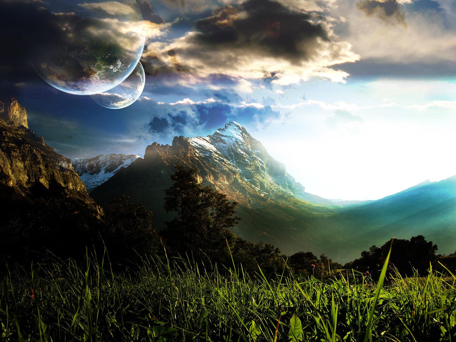 Fond d'ecran Montagne Planètes
