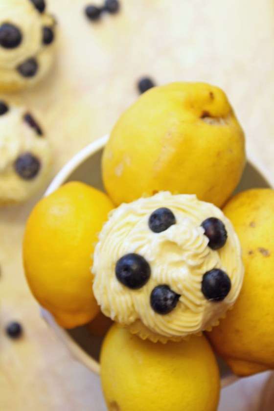 Summer Lemon Blueberry Cupcakes with Lemon Cream Cheese Frosting 78-082413