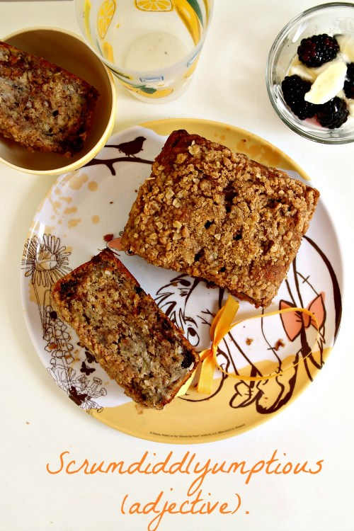 Scrumdiddlyumptious Caramelized Banana and Toasted Coconut Banana Bread 11--013014