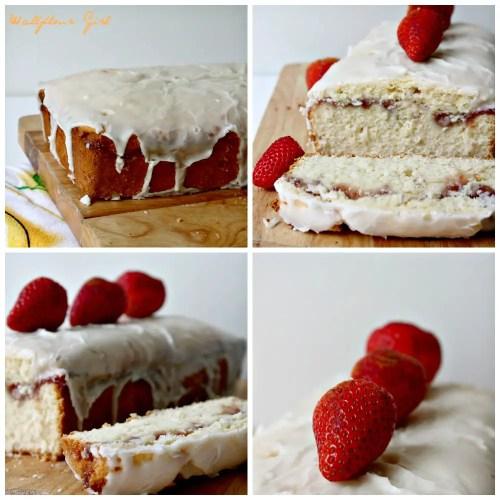 Buttery Moist Lemony Glazed Strawberry Swirl Pound Cake 10--020514