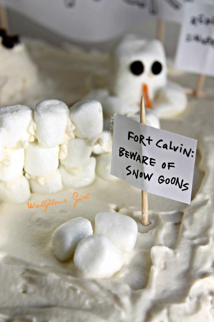 Edible Book Festival 2014 Melting Snowmen Sculptures Coconut Poke Cake 5--041114