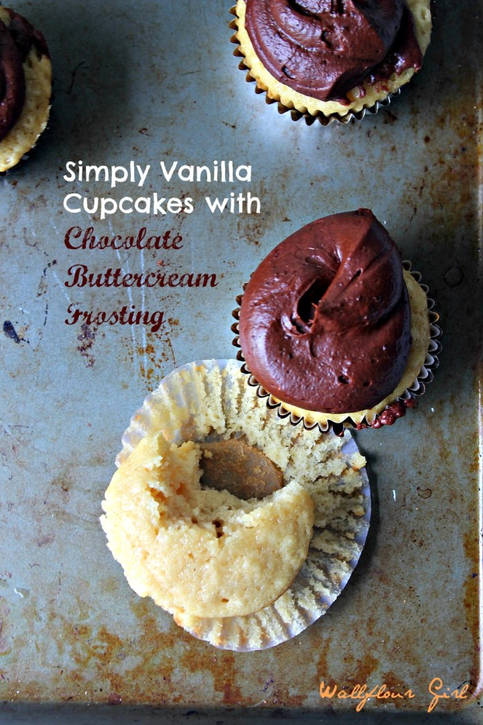 Vanilla Cupcakes with Chocolate Buttercream Frosting 7--061414