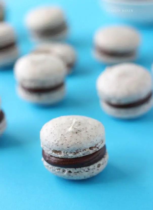Hazelnut Macarons with Chocolate Ganache via Blahnik Baker_1