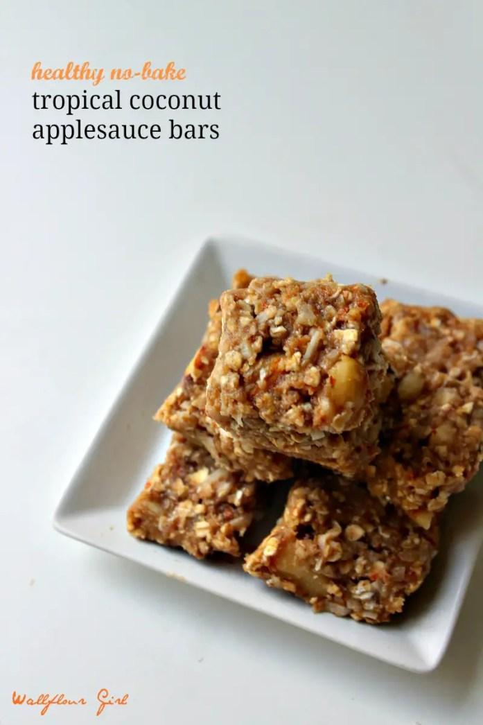 Healthy No-Bake Tropical Coconut Applesauce Bars 12--090314