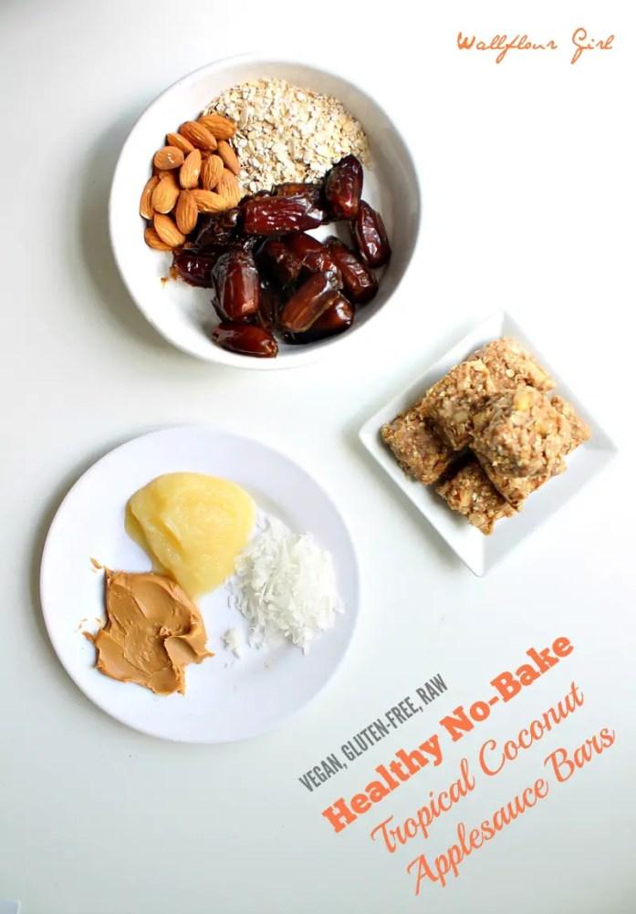 Healthy No-Bake Tropical Coconut Applesauce Bars 2--090314