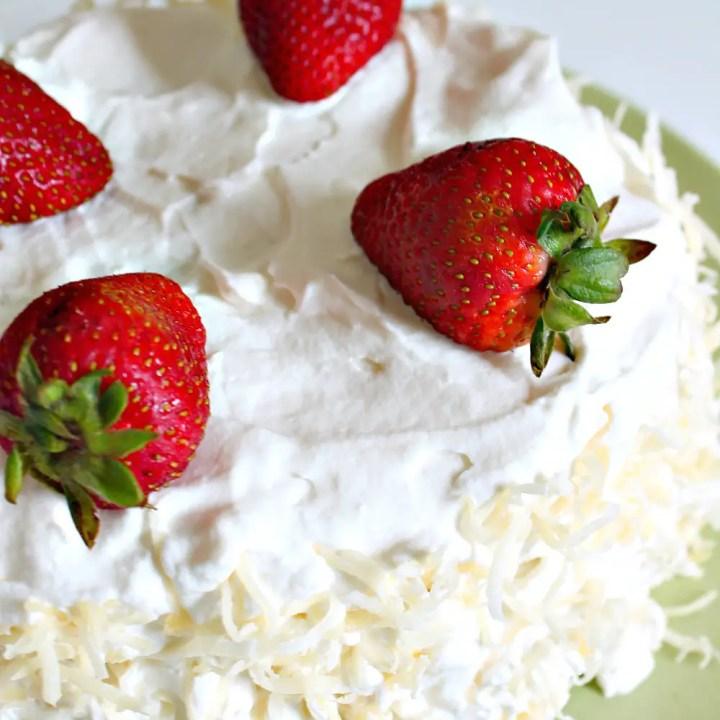 *Award-Winning* Soaked Coconut Poke Cake