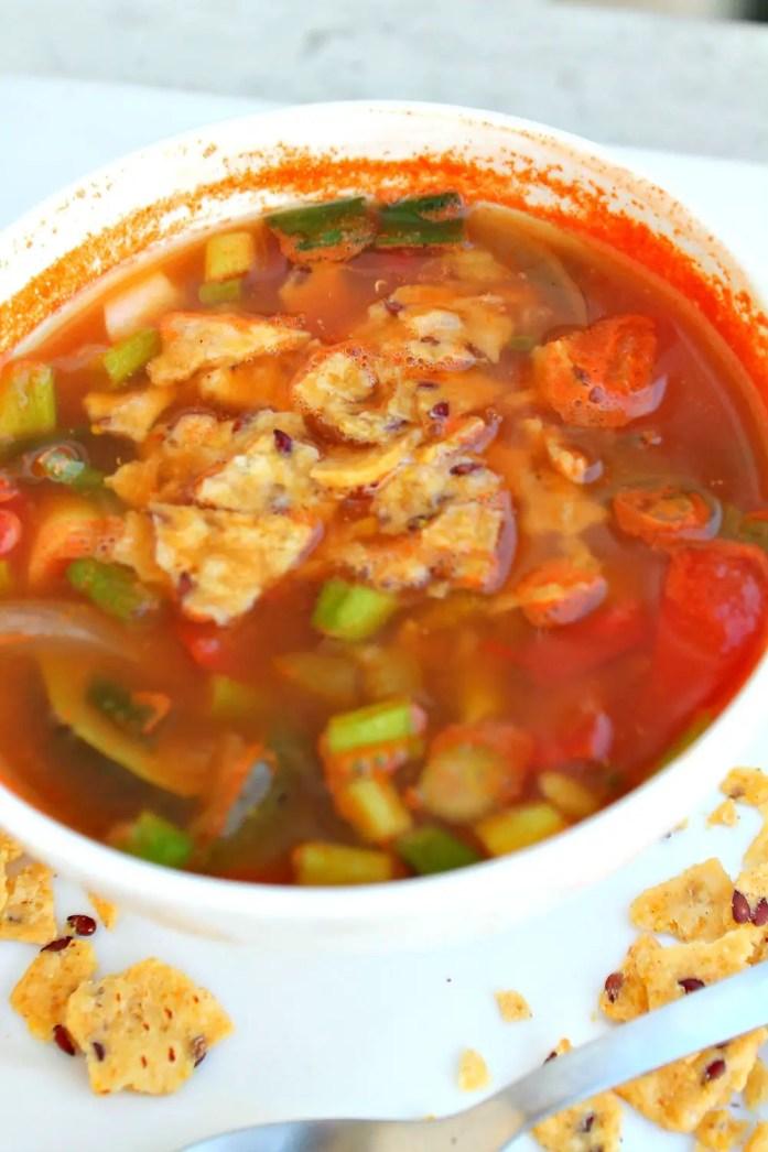 Vegetarian Tortilla Soup 9--072715