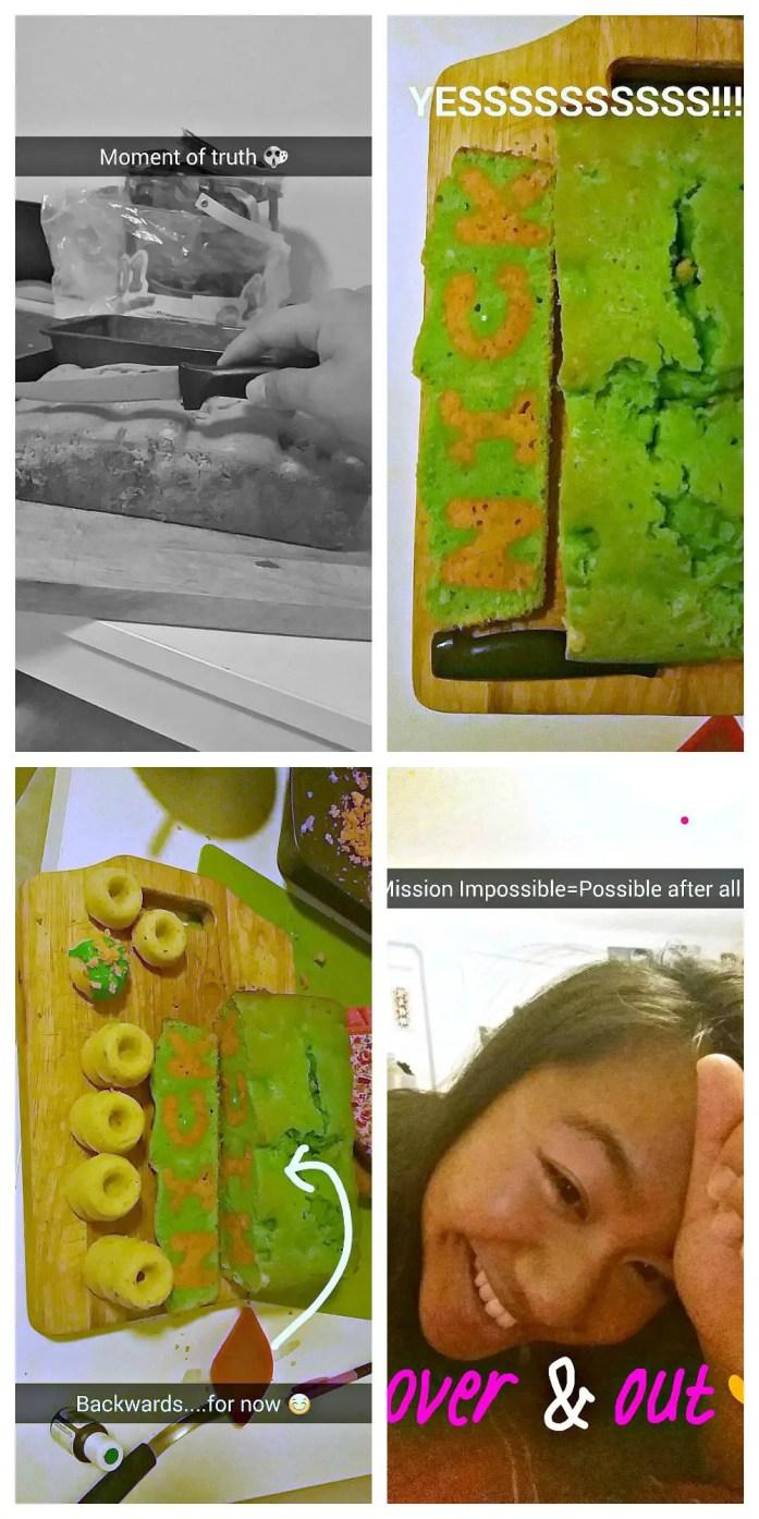 Nickelodeon Cake snapchat collage 3