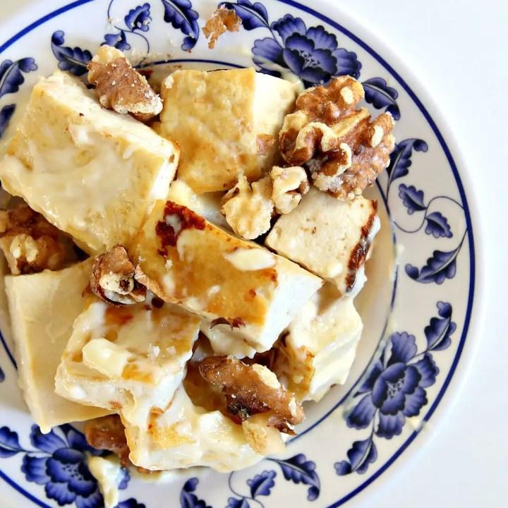 Honey Walnut Tofu with Garlic and Herb Rice