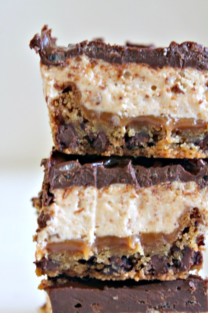 4-Layer Nougat Caramel Cookie Ganache Krispies Bars 6--100115