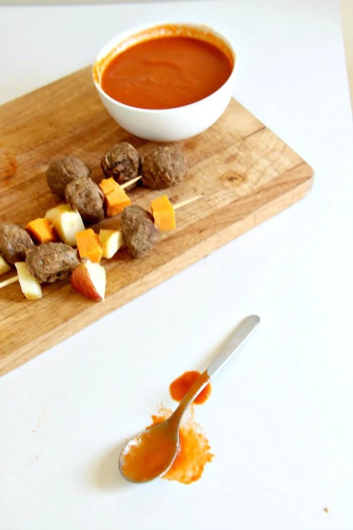 Apple Cheddar Veggie Meatball Skewers 5--101115