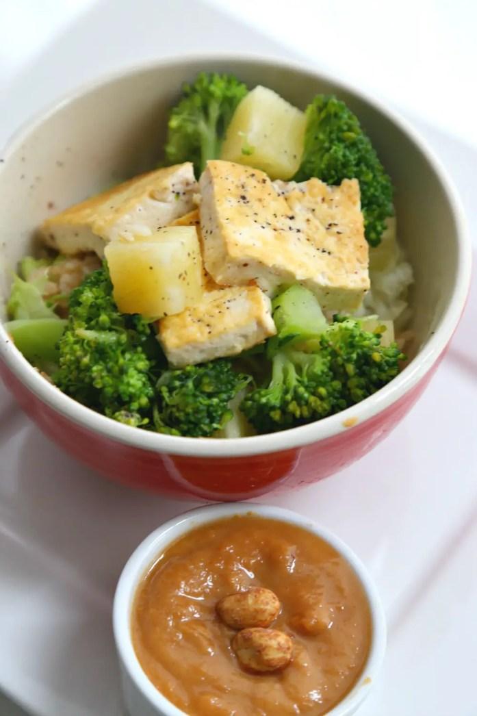 Tofu Pineapple Veggie Rice Bowl 1--020116