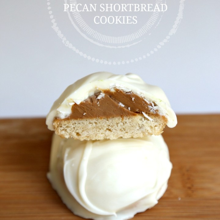 White Chocolate Cookie Butter Pecan Shortbread Cookies