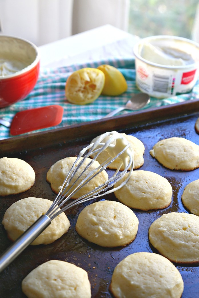 Lemon Ricotta Cookies with Lemon Cream Cheese Frosting 4--102616