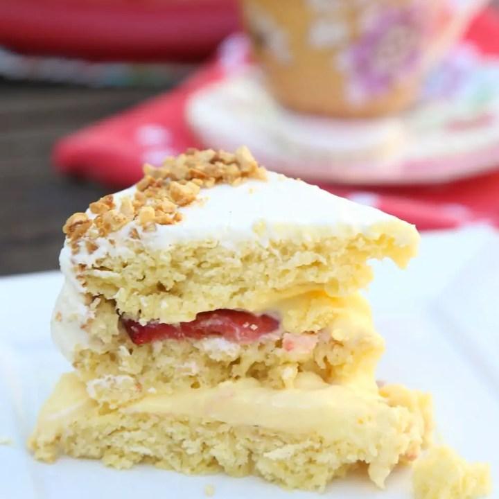 Custard-Filled Victoria Sponge Layer Cake