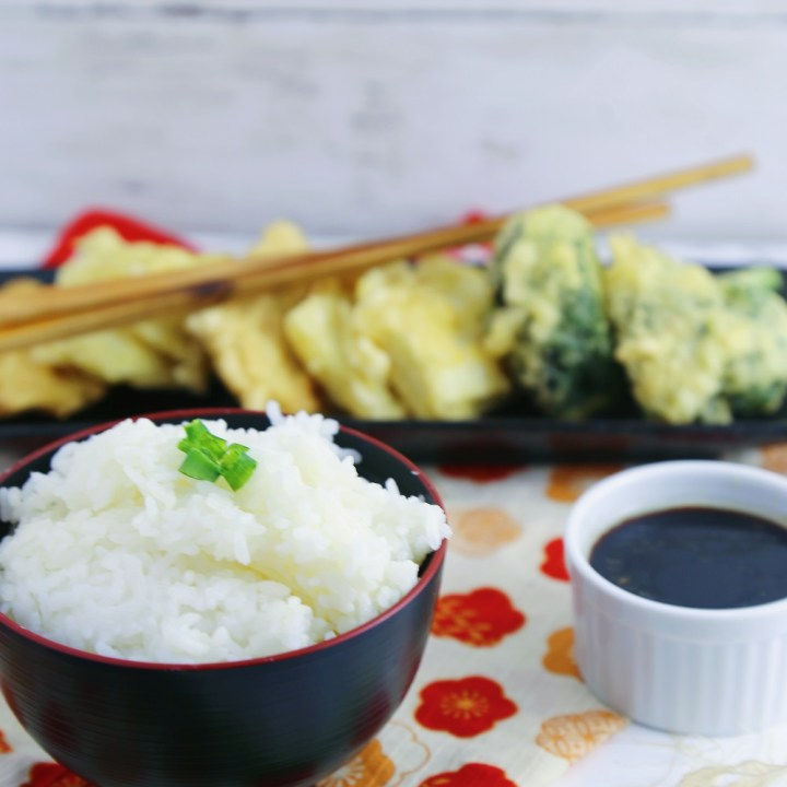 Vegetable Tempura with Vegan Dipping Sauce