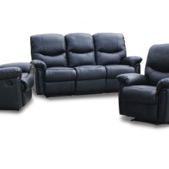 Italian Leather Recliner Sofa Set Inflatable Air Chair Reclining Sets Wall Hugger Recliners