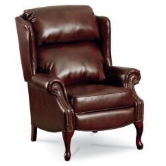 Reclining Wingback Chair Brown Parsons Chairs Leather Recliner   Home Decor