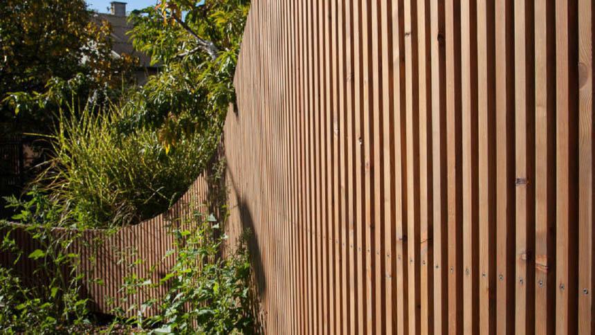 Moderner Holzzaun F 252 R Bio Winzer Walli Wohnraum Garten