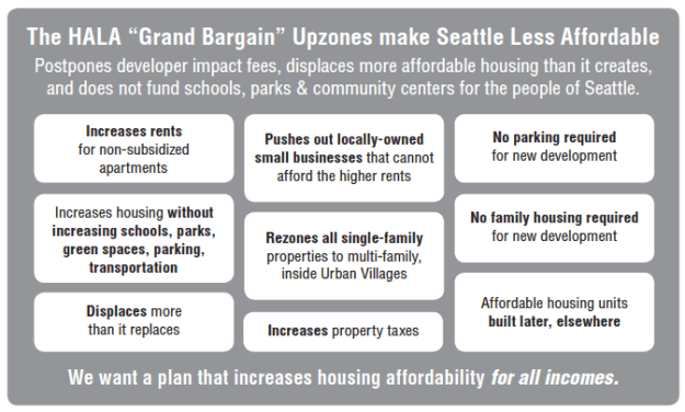HALA Grand Bargain - making Seattle less Livable