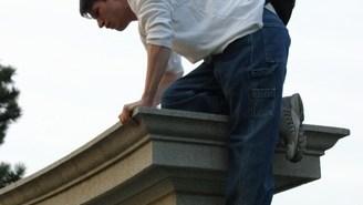 Climbing the Pillars, Forest Park, Saint Louis, Missouri