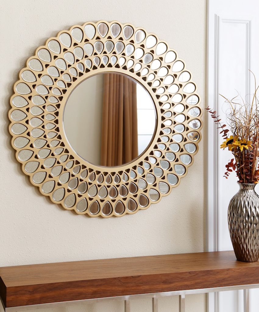 9 Dazzling Round Wall Mirrors to Decorate Your Walls