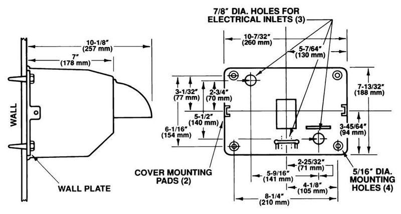 Excel Dryer 76-C Push Button Hand Dryer, Chrome