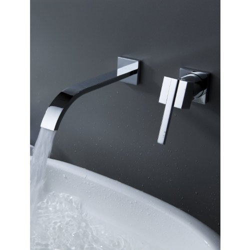 Zingcord Wall Mount Contemporary Brass Widespread Waterfall Bathroom Sink  Faucet Single Handle Mixer Taps Bath Tub Faucets Lavatory Cheap Discount  Plumbing ...
