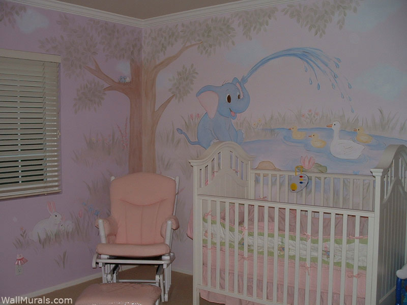 Baby Girl Nursery Flower Wallpaper Baby Room Wall Murals By Colette Nursery Wall Murals For