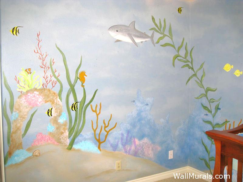Ocean Wall Murals Beach Murals Undersea AnimalsWall
